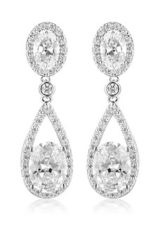 Georgini Aurora Radience Earrings Silver IE980W