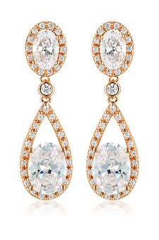 Georgini Aurora Radience Earrings Rose Gold IE980RG