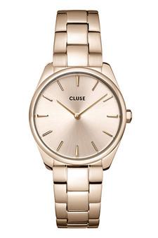 Cluse Feroce Petite Full Rose Gold Link Watch CW11201