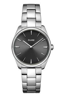 Cluse Feroce Petite Dark Grey/Silver Link Watch CW11202