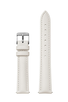 Cluse 16mm Watch Strap Off-White/Silver Leather CS12210