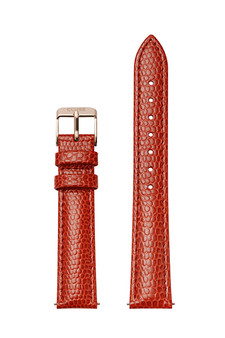 Cluse 16mm Watch Strap Coral Lizard/Rose Gold Leather CS12212