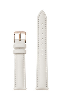 Cluse 18mm Watch Strap Off-White/Silver Leather CS12305