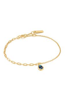 Ania Haie Gold Tidal Abalone Mixed Link Bracelet B027-02G