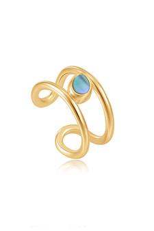 Ania Haie Gold Tidal Abalone Ear Cuff E027-02G
