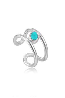 Ania Haie Silver Tidal Turquoise Ear Cuff E027-02H