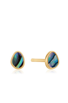 Ania Haie Gold Tidal Abalone Stud Earrings E027-04G
