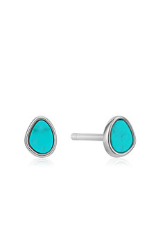 Ania Haie Silver Tidal Turquoise Stud Earrings E027-04H