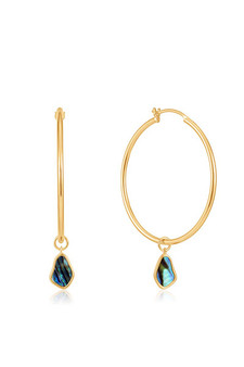Ania Haie Gold Tidal Abalone Drop Hoop Earrings E027-05G