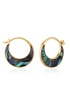 Ania Haie Gold Tidal Abalone Crescent Earrings E027-07G