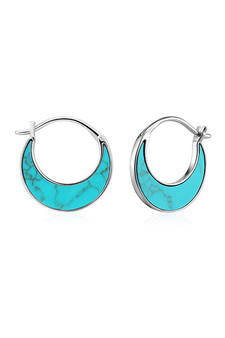 Ania Haie Silver Tidal Turquoise Crescent Earrings E027-07H