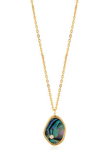 Ania Haie Gold Tidal Abalone Necklace N027-01G