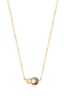 Ania Haie Gold Tidal Abalone Crescent Link Necklace N027-03G