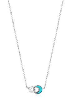 Ania Haie Silver Tidal Turquoise Crescent Link Necklace N027-03H