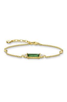 Thomas Sabo Bracelet Green Stone Gold TA2018GY
