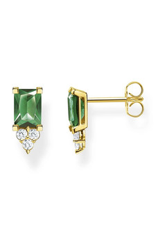 Thomas Sabo Ear Studs Green Stone Gold TH2173GY