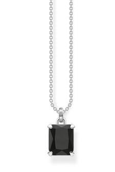 Thomas Sabo Necklace Black Stone Silver TKE1964BL