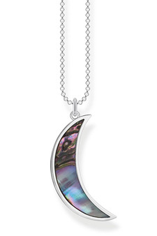 Thomas Sabo Necklace Crescent Moon Abalone Mother-of-pearl Silver TKE2004
