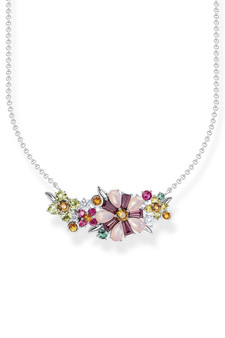Thomas Sabo Necklace Flowers Silver TKE2085