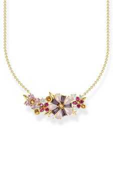 Thomas Sabo Necklace Flowers Gold TKE2085Y
