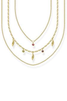 Thomas Sabo Necklace Leaves Gold TKE2088Y