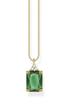 Thomas Sabo Necklace Green Stone Gold TKE2089GY