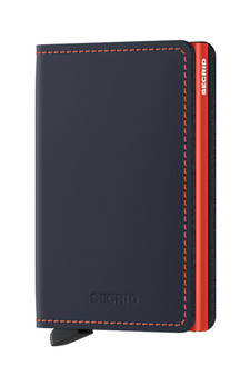 Secrid Slimwallet Matte Night Blue & Orange Wallet SC9012