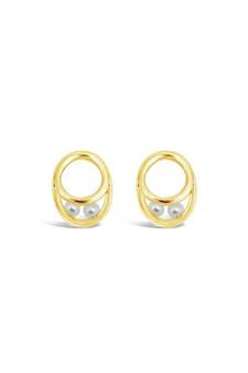 Ichu Eternal Pearl Earrings Gold JP12607G
