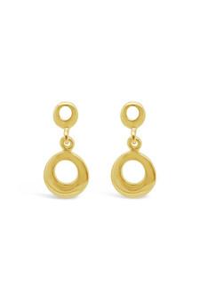 Ichu Tiny Circle Drop Earrings Gold JP0707G