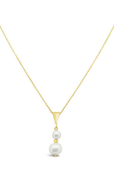 Ichu Duo Pearl Necklace Gold RP1304G