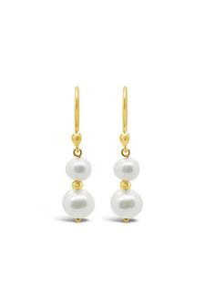 Ichu Duo Pearl Earrings Gold RP1207G