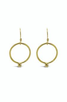 Ichu Gold Ball Ring Earrings MR28407G