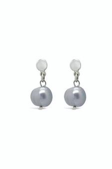 Ichu Blue/Grey Pearl Drop Earrings RP1107