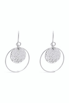 Ichu Hammered Halo Earrings ME12807