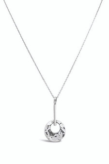 Ichu Bar'd Circle Pendant Necklace EY0404