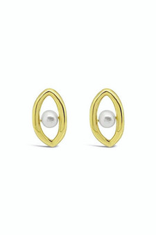 Ichu Oval'd Pearl Stud Earrings RP0207G