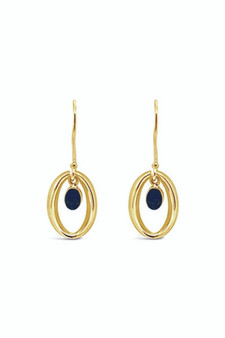 Ichu Halo'd Opal Earrings Gold OP4807G