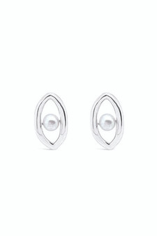 Ichu Oval'd Pearl Stud Earrings RP0207