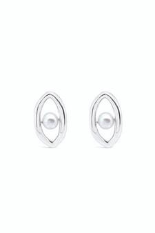 Ichu Oval'd Pearl Stud Earrings RP0207