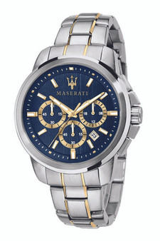 Maserati Successo 45mm Blue Watch R8873621016