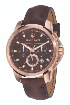 Maserati Successo 44mm Brown Watch R8871621004
