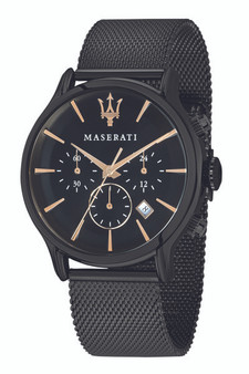 Maserati Epoca 42mm Black Steel Mesh Watch R8873618006