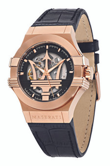 Maserati Potenza 42mm Automatic Skeleton Gold Watch R8821108039