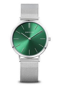 Bering Ladies Classic Green Watch 14134-008