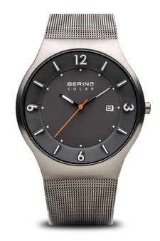 Bering Solar Brushed Grey Watch 14440-077