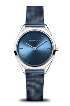 Bering Ultra Slim Blue Mesh Watch 17031-307