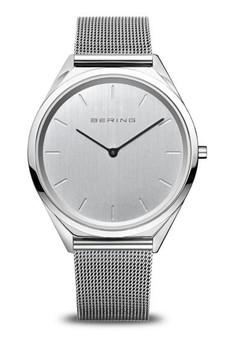 Bering Ultra Slim Silver Mesh Watch 17039-000