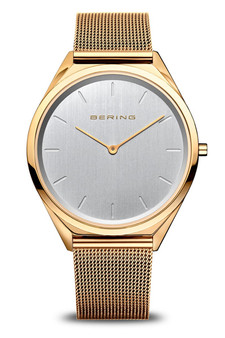 Bering Ultra Slim, Gold Milanese Mesh Watch 17039-334