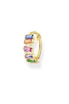 Thomas Sabo Single Hoop Earring Colourful Stones Gold TCR665MCY