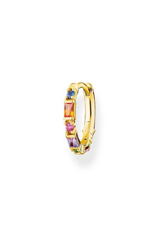 Thomas Sabo Single Hoop Earring Colourful Stones Gold TCR666MCY